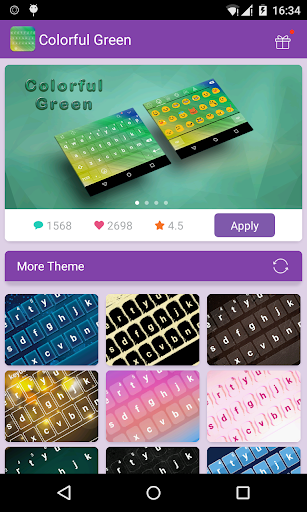 Emoji Keyboard-Colorful Green