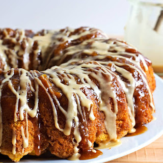 Chai-Glazed Pumpkin Monkey Bread
