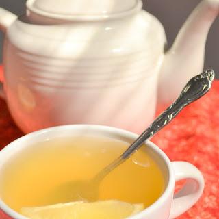 Lemon Ginger Honey Tea.