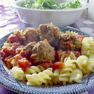 Easy Pork, Lemon and Sage Meatballs with Pasta.