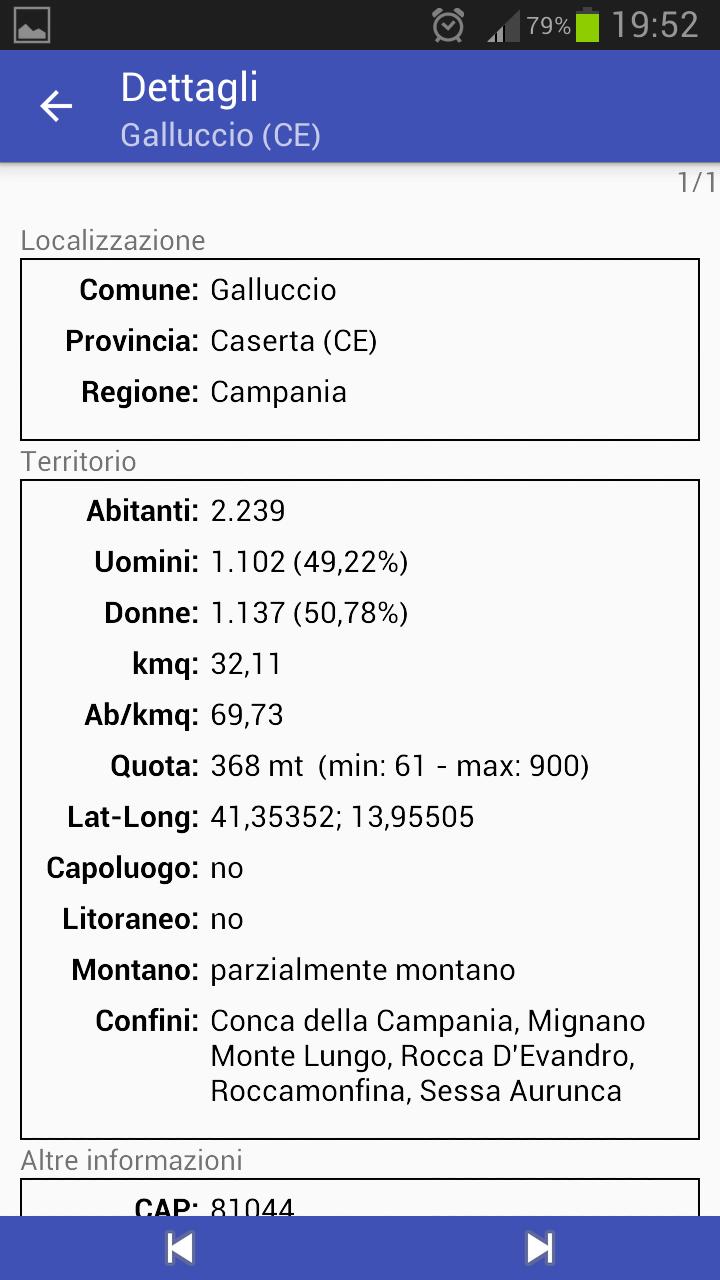 Скриншот Tutto Comuni