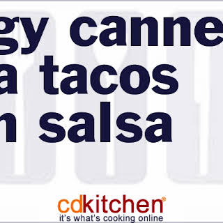 Tangy Canned Tuna Tacos With Salsa.