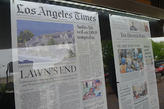 Photo: Front pages at the Newseum!