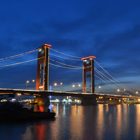 Night of Ampera bridges by Ardhy Muhammad - Buildings & Architecture Bridges & Suspended Structures ( bridges, landscape )
