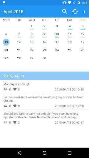 TwitCal your tweet calendar