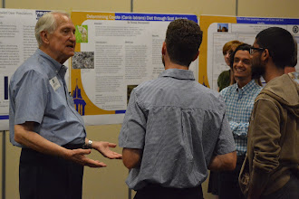 Photo: 0093 Leon Whitney talked with Peter Beck and St. Ed's students about their projects.jpg