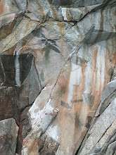 Photo: Rocks colored by flowing water.