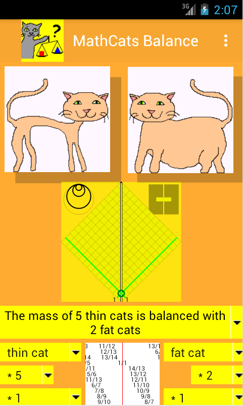 MathCats balance- screenshot