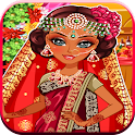 indian wedding game dress up icon