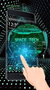 3D earth space tech theme - náhled