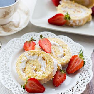 Strawberry Cream Swiss Roll