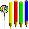 Teaching colors, coloring and drawing icon