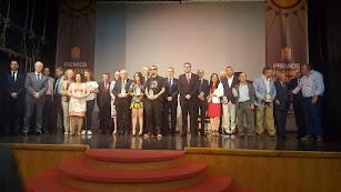 Foto de familia tras la entrega de la IV edición de los Premios Filabres-Alhamilla.