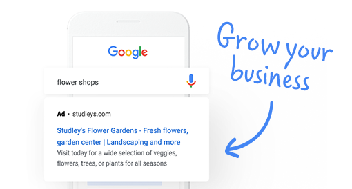 <h3>Grow your business with Google Ads</h3>
