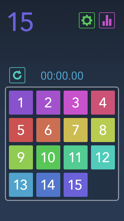 Fifteen Puzzle Game- screenshot