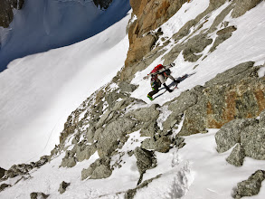 Photo: Last few meters before the couloir proper