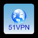 51VPN Free and Unlimited Hongkong Japan nodes icon