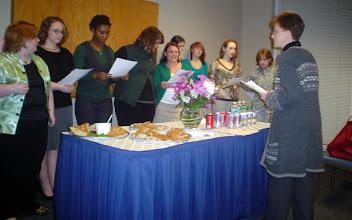 Photo: Sigma Tau Delta Induction Ceremony, Spring 2010