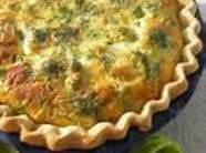 Ham And Cheddar Broccoli Quiche Recipe