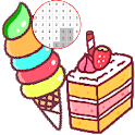Food Color By Number - Pixel Art icon