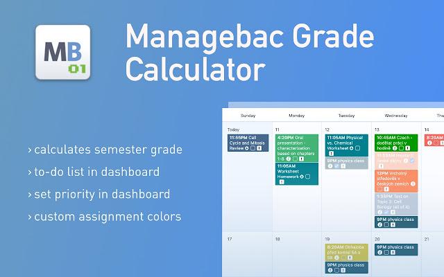 Managebac Grade Calculator & More+