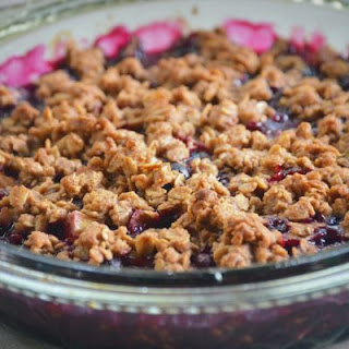 Slow-Cooked Mixed Berry Dump Cake.