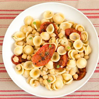 Orecchiette with Herb-Roasted Tomatoes and Chickpeas