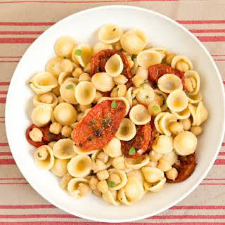 Orecchiette with Herb-Roasted Tomatoes and Chickpeas.