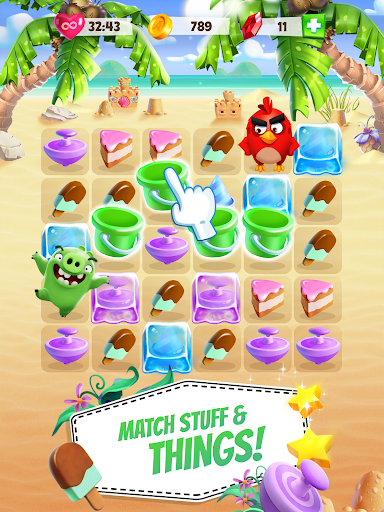 Angry Birds Match game (apk) free download for Android/PC/Windows screenshot