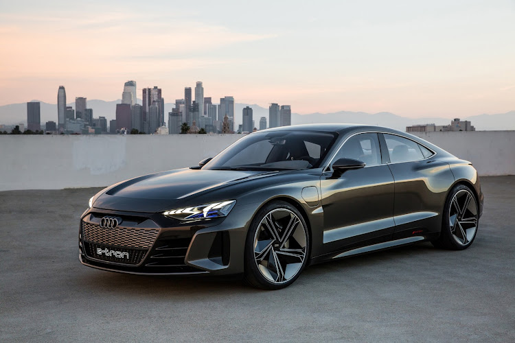 The Audi e-tron GT concept. Volume production is scheduled to start in late 2020.