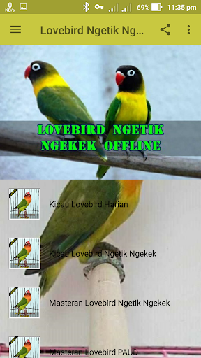 Lovebird Ngetik Ngekek Offline 1.1 screenshots 4