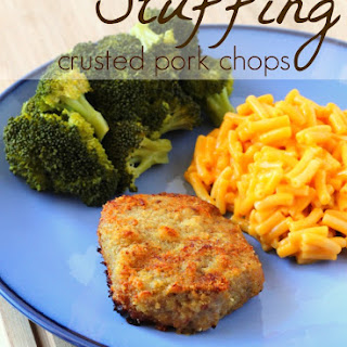 Easy Stuffing Crusted Pork Chops.