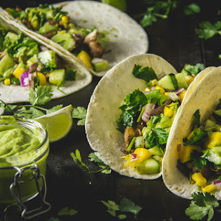 Jerk Chicken Tacos with Mango Salsa