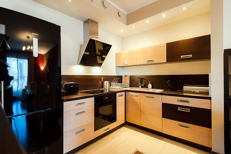 Fully equipped kitchen at Exclusive Apartment Hotel Wroclaw