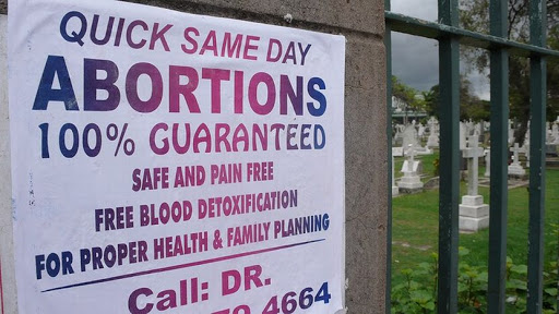 An abortion advert. Archive photo: via Flikr Mårten Janson via Flikr via Creative Commons