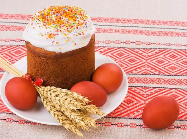 Russian Kulich For Easter
