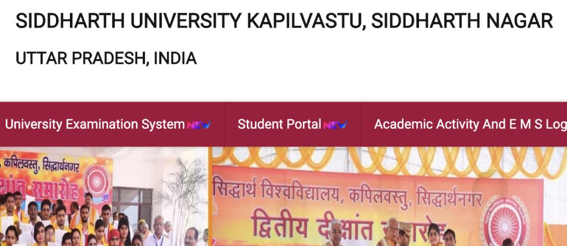 Siddharth University Result