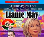 Lianie May : Ej's sportspub & entertainment Paarl