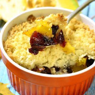 Orange Zested Pumpkin Cranberry Bake