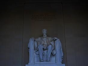 Photo: Lincoln memorial