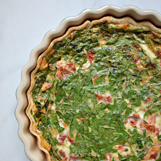 Mediterranean Egg White Quiche.