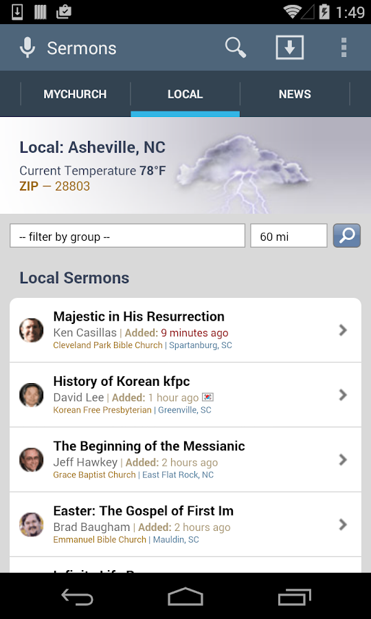 SermonAudio Android Edition - screenshot