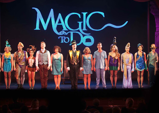 "Magic-to-Do-4 - A curtain call after an early staging of Stephen Schwartz's ""Magic to Do"" aboard Ruby Princess."
