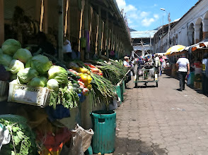 Photo: The market in Otovalo had so many fresh fruits and vegetables. This is where the locals shop. The tourist stuff is in the front. Lunch $1.30.