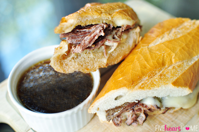 Slow Cooker French Dip Sandwich Au Jus