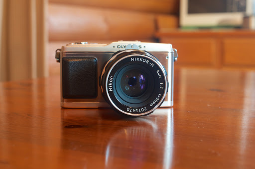 NIKKOR-H Auto 50mm F2 with Olympus PEN -E-P1