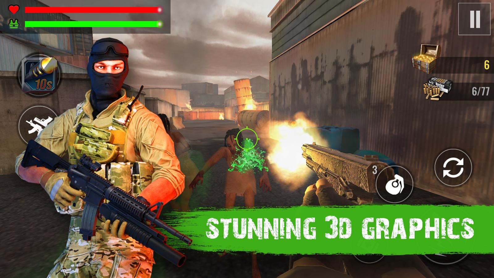 Zombie Shooter 4D Survival- screenshot