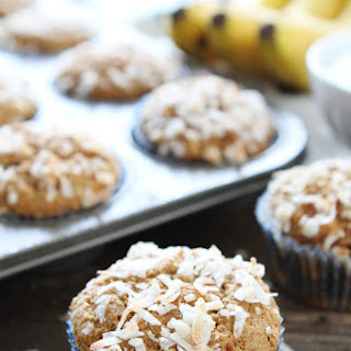 Whole Wheat Banana Coconut Muffins {Vegan}.