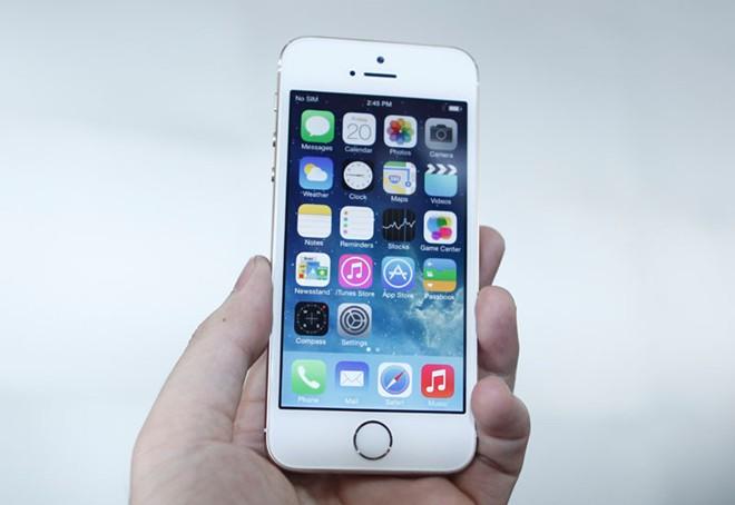 Độ điểm ảnh kích thước lớn trên iPhone 5s Lock