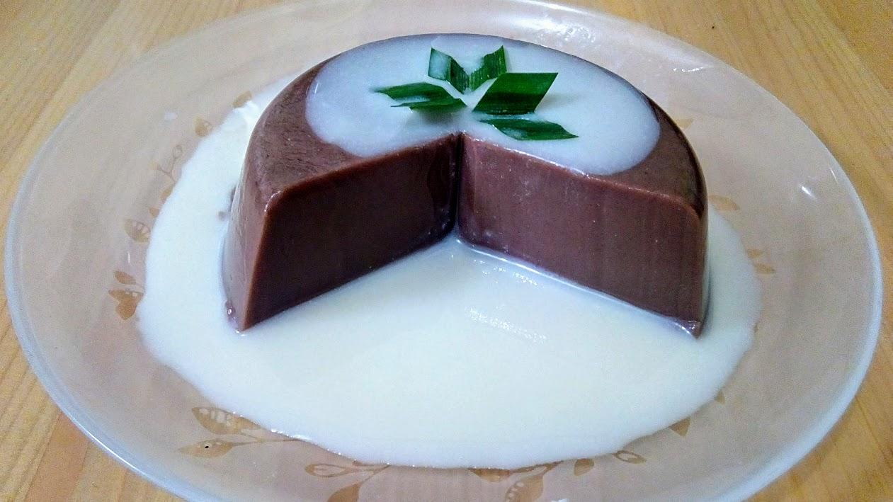 Resep Puding coklat dengan vla vanilla